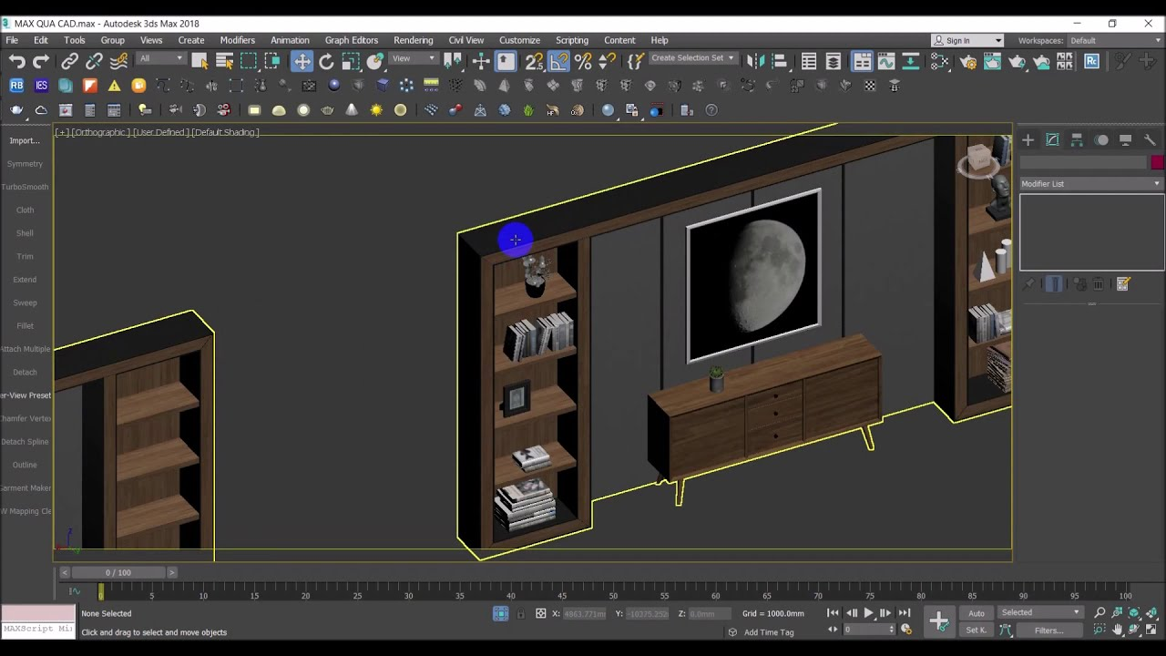 Hướng dẫn xuất bản vẽ kỹ thuật từ file 3ds max sang autocad | Xuất bản vẽ 3d sang 2d trong 3ds max