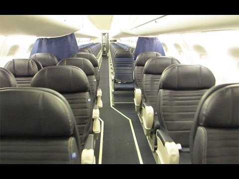 United Express E175 cabin tour