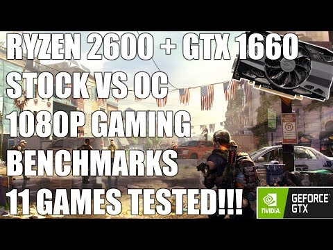 Ryzen 2600 + GTX 1660 - 1080p Gaming Benchmarks Review - 11 Games Tested + Giveaway