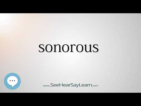 sonorous    5,000 SAT Test Words and Definitions Series 🔊