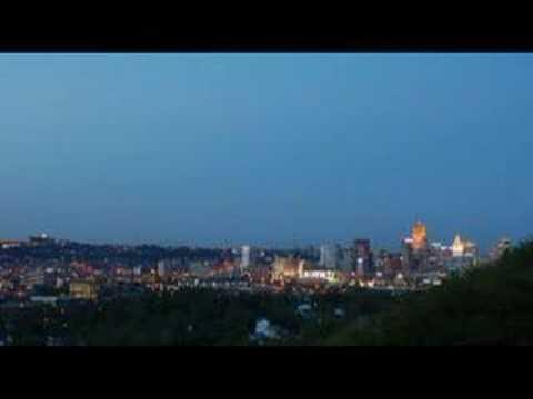 Time Lapse Cincinnati, OH - Downtown Skyline @ Night