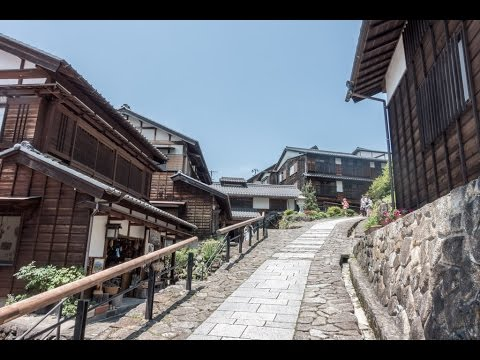 Magome post town in the Kiso Valley between Kyoto, Tokyo, Ja