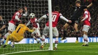 весь обзор. Все голы. Арсенал - Бавария (0-2) 19.02.2014
