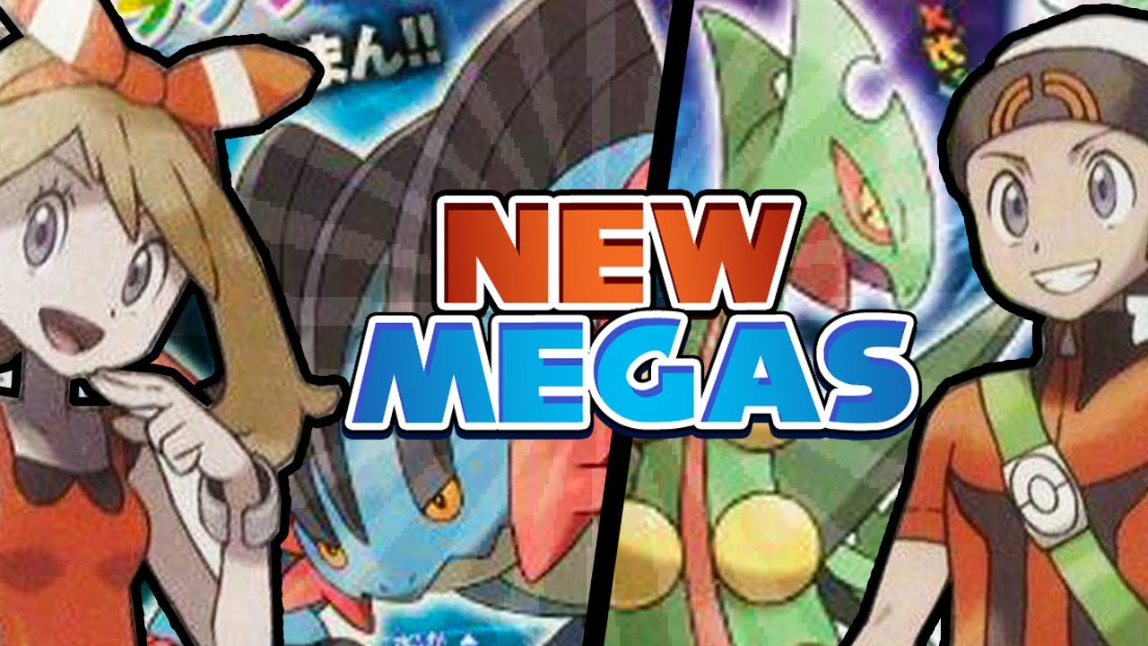 Mega Swampert Mega Sceptile And Characters Revealed
