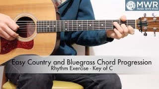 Easy Country and Bluegrass Chord Progression - FREE LESSON!