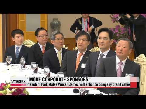 President Park Geun-hye asks more firms to sponsor Pyeongchang Winter Games   박근