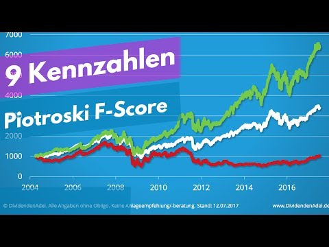 Die 9 Kennzahlen von Piotroski in der PRAXIS! So funktioniert der Score um Qualitätsaktien zu finden