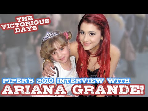 ARIANA GRANDE Talks VICTORIOUS & DAN SCHNEIDER with Princess of the Press Piper Reese