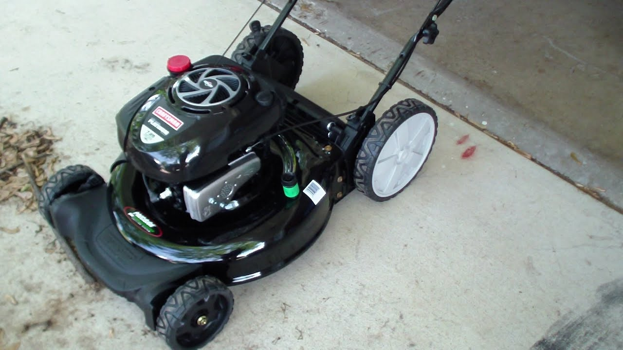 Sears Craftsman Push Lawn Mower 2014 Review Youtube