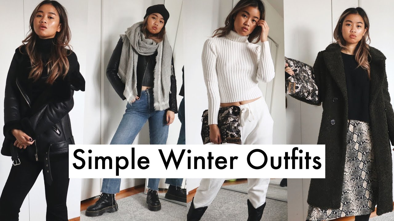 simple winter outfit ideas  casual and cute  youtube