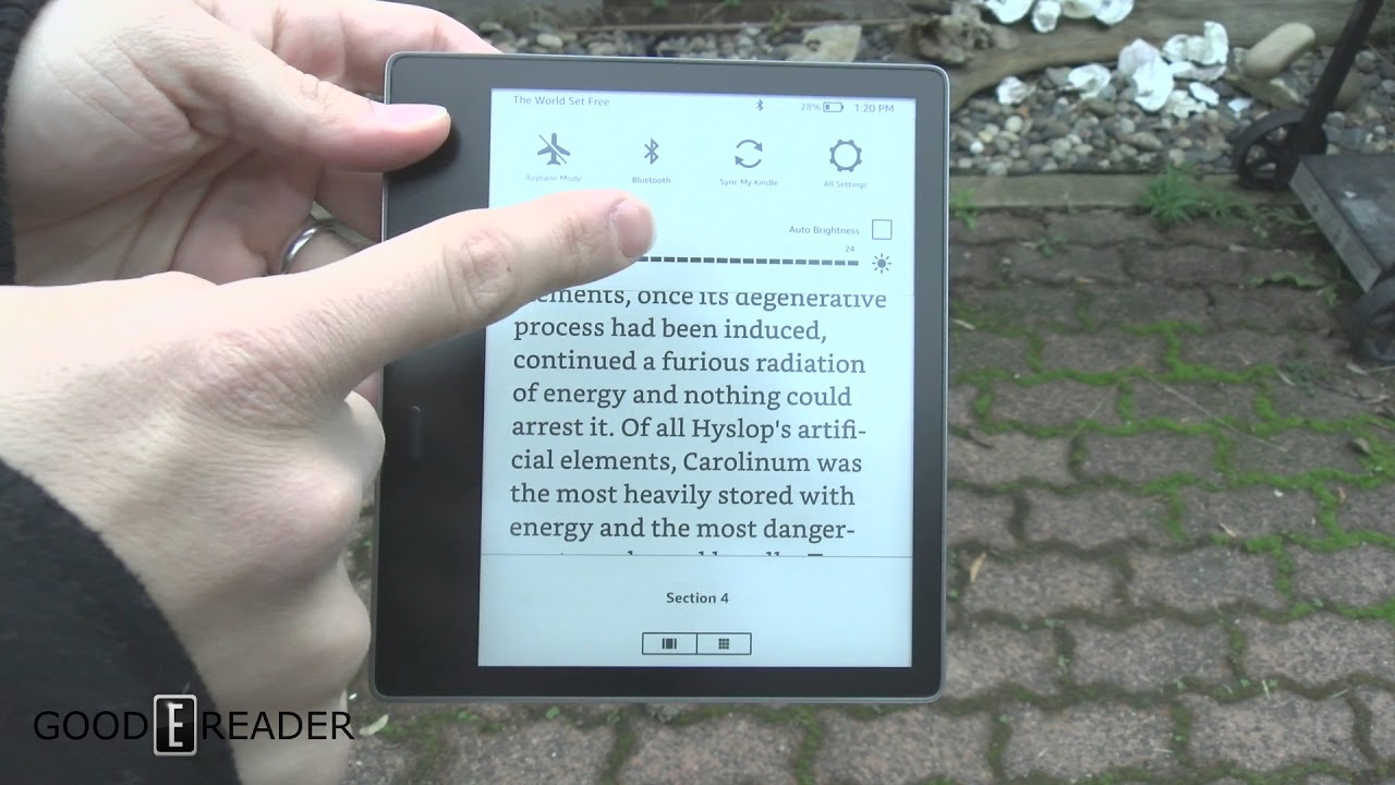Amazon Kindle Oasis 2017 Outdoor Reading Test