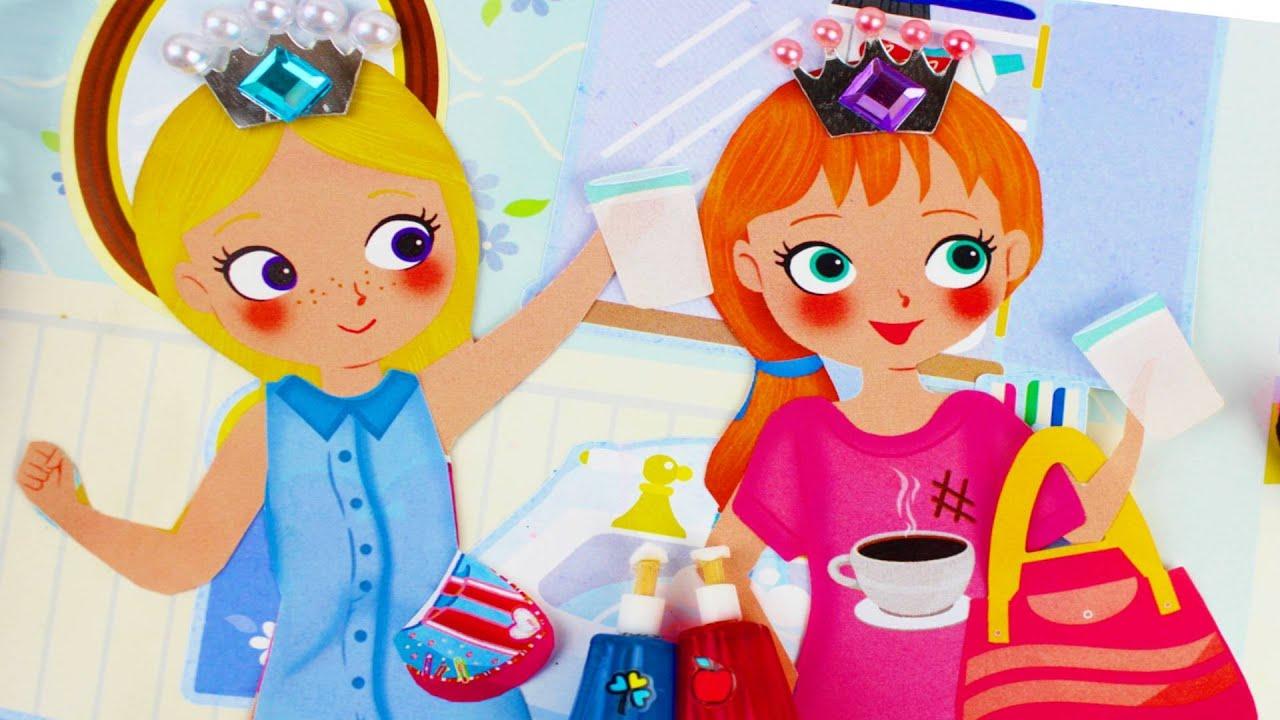 Bañando Muñecas de Papel de Elsa y Anna