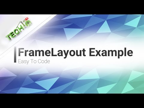 Android FrameLayout Example | android layout - YouTube