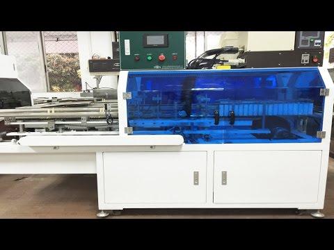hotmelt glue sealing machine automatic high speed snack boxes carton sealer マシンのホットメルト接着剤をシールボックス