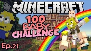 Minions & Rainbows! | Minecraft 100 Baby Challenge Ep.21