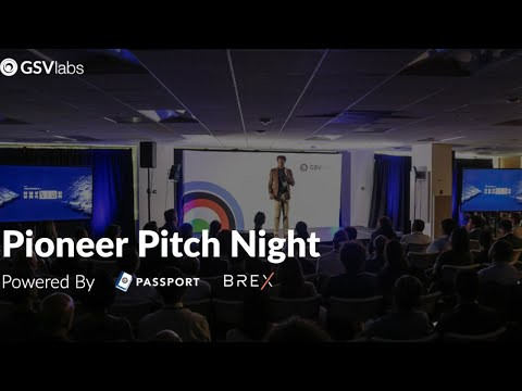 GSVlabs Pioneer Pitch Night - Silicon Valley, Dec 2019