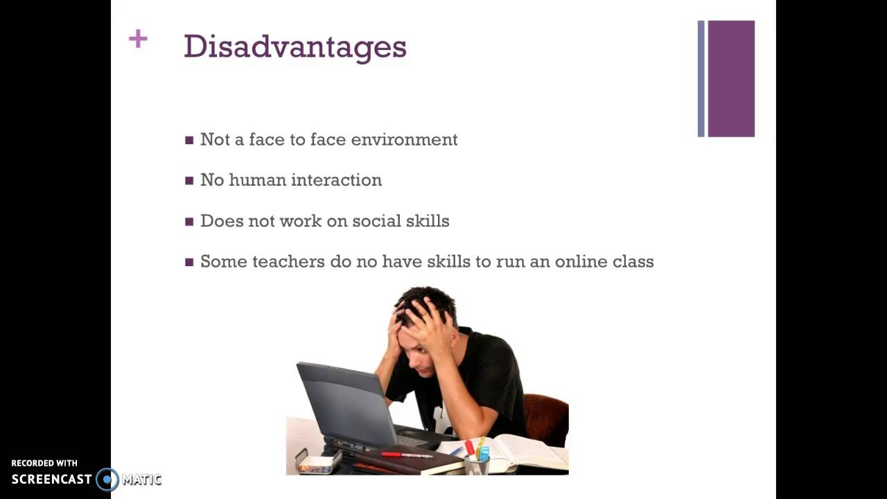 Online Teaching And Learning Advantages And Disadvantages Youtube - Online Classes Disadvantages