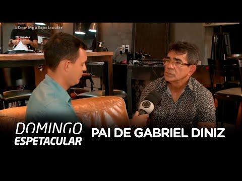 Pai de Gabriel Diniz fala com exclusividade com o Domingo Espetacular