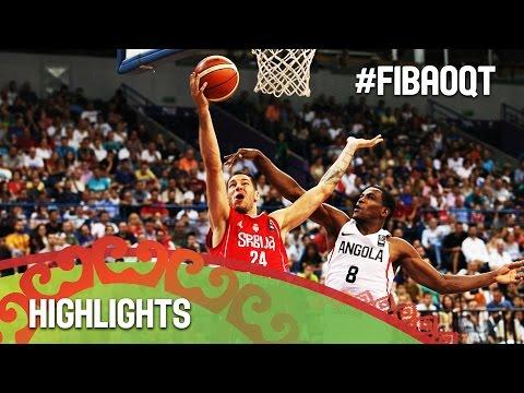 Angola v Serbia - Highlights - 2016 FIBA Olympic Qualifying Tournament - Serbia