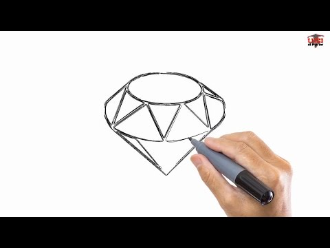 How To Draw Diamond Easy Drawing Step By Step Tutorials For Kids