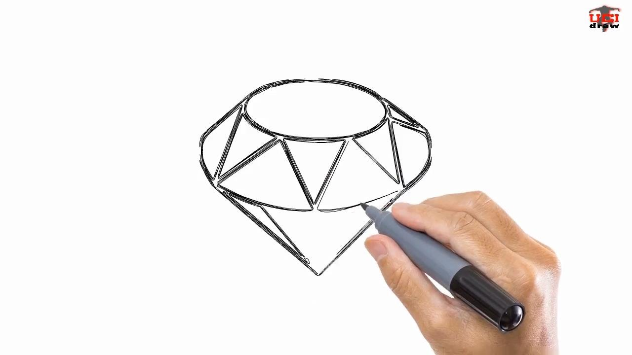 How To Draw A Diamond Easy Drawing Step