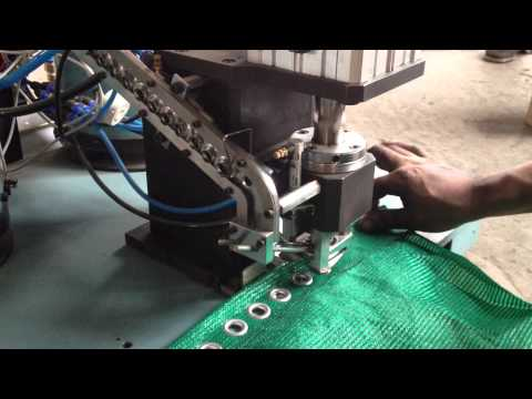 Pneumatic Grommets Punching Machine Eyelet machine