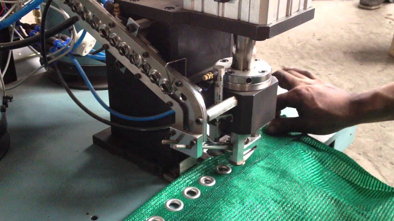 Pneumatic Grommets Punching Machine Eyelet Machine Youtube