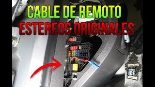 COMO CONECTAR EL CABLE DE REMOTO EN ESTÉREOS ORIGINALES  CORRECTAMENTE / CAR AUDIO