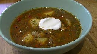 Очень вкусный суп с куриными желудками