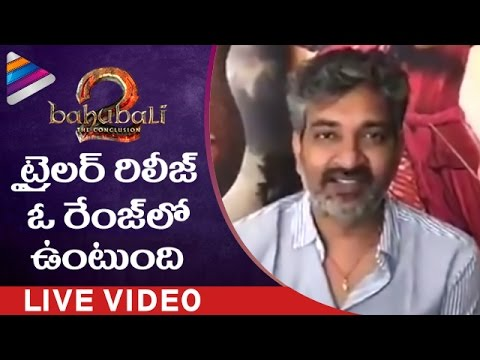 Thumbnail: BAAHUBALI 2 Trailer and Movie Updates | SS Rajamouli Facebook Live Interview | Telugu Filmnagar