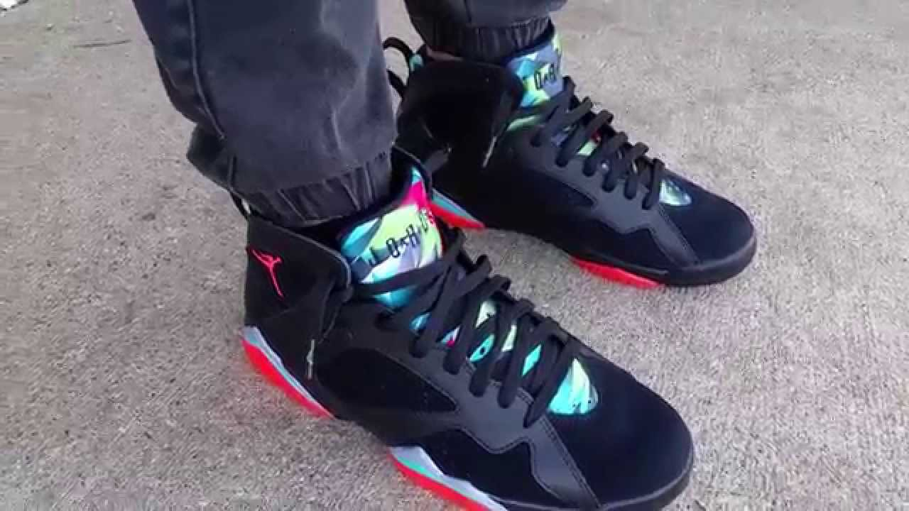air jordan 7 retro marvin the martian review rolling