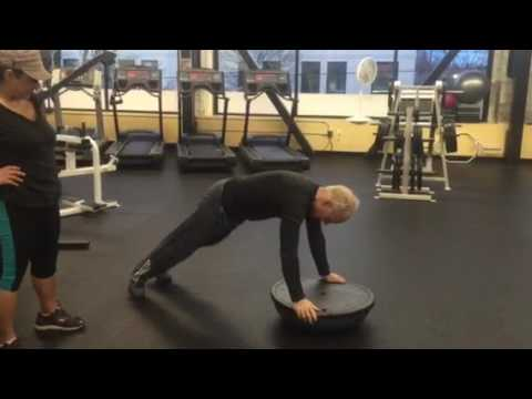 Cancer prevention, personal training with Graig & Damaris/ 3 kids of planks