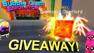 Bubble Gum Simulator Dimond Overlord Giveaway🐺+300 Shiny Legend!🦊!