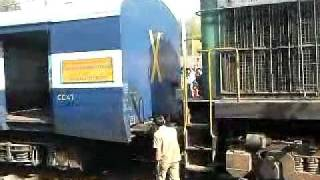 HOW TO JOIN A TRAIN WITH ITS ENGINE, INDIA(HEY THIS VIDEO CAN HELP U UNDERSTAND THE WAY TRAINS ARE JOINED WITH ENGINES IN INDIA...ENJOY..., 2009-04-15T11:14:16.000Z)