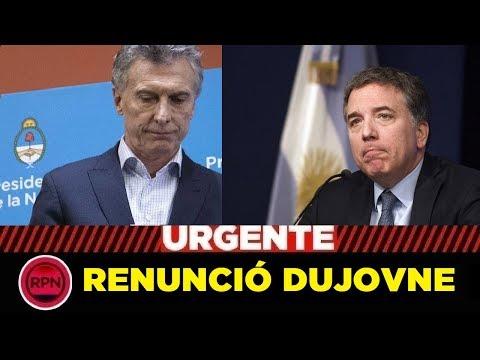 CHAU, CHAU, ADIÓS: Dujovne pegó el portazo y renunció al Ministerio de Hacienda
