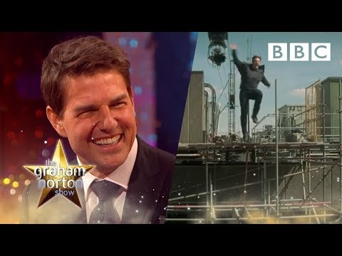 Footage of how Tom Cruise broke his ankle while filming his latest movie – The Graham Norton Show