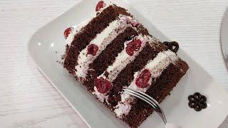 популярный ШОКОЛАДНЫЙ торт ЗИМНЯЯ ВИШНЯ Очень ВКУСНО и ПРОСТО Ручным миксером