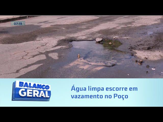 Mais desperdício: Água limpa escorre em vazamento no Poço