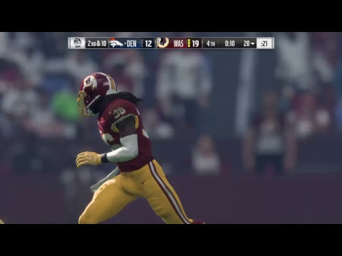 Madden 18 - Denver Broncos vs Washington Redskins - Full Game Simulation Nation