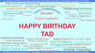 Tad   Languages Idiomas - Happy Birthday