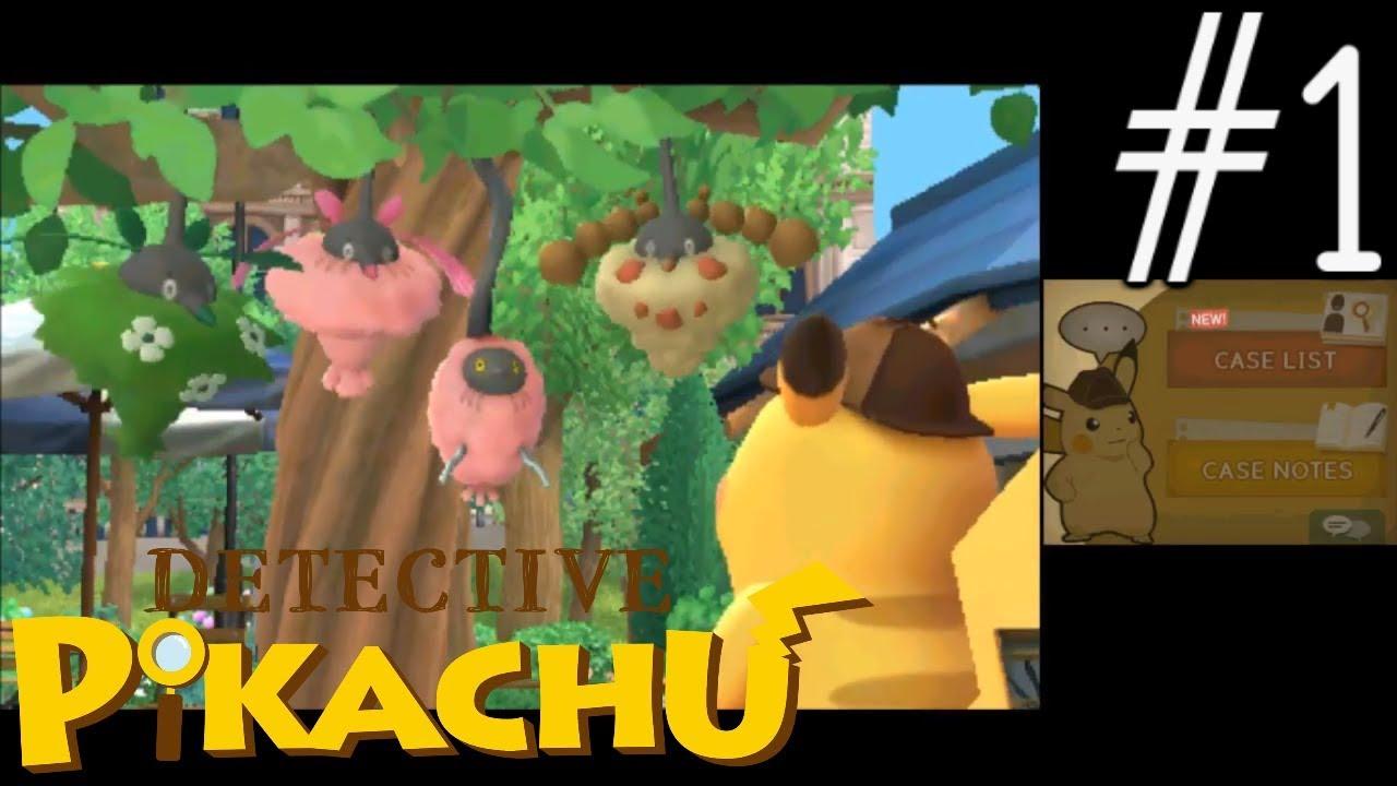 Detective Pikachu Gameplay Walkthrough Part 1 Youtube