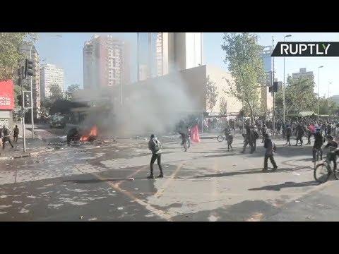 Disturbios en las manifestaciones de Santiago de Chile