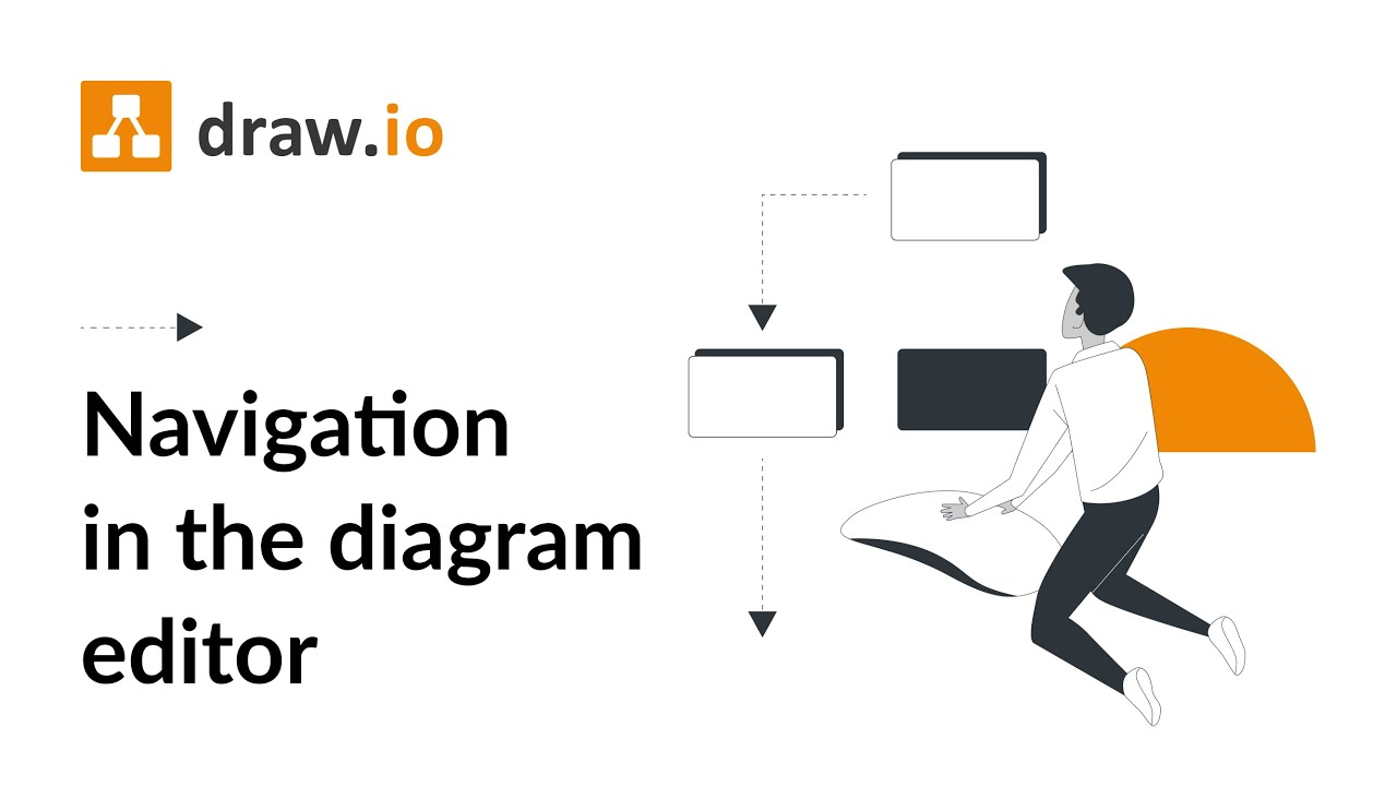 how to use the draw io diagram editor to quickly create diagrams