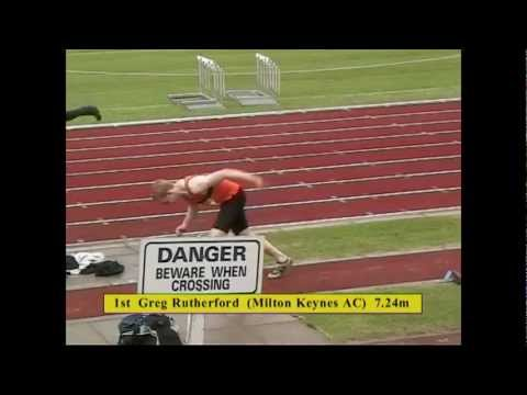 2004 AAA's Long Jump Final for U20M - Greg Rutherford