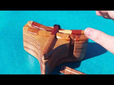 Dragonfly Wooden Puzzle Box Stash Box