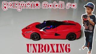 UNBOXING MOBIL REMOT RC LUXURIOUS WARNA MERAH!!!