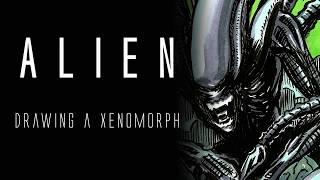 Alien Xenomorph Drawing