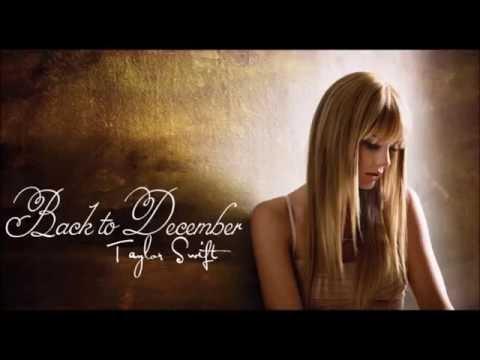 Back to December  - Taylor Swift karaoke lower key
