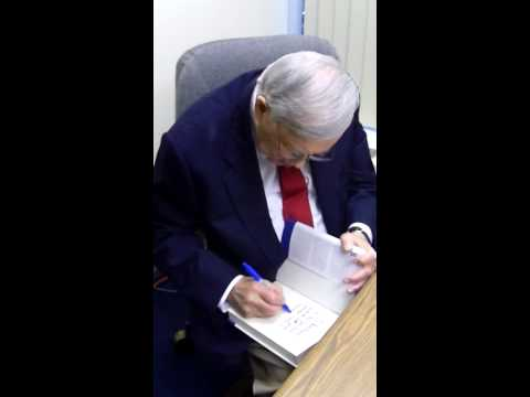 Bob Wolff signing his autobiography for me at News 12 Long Island