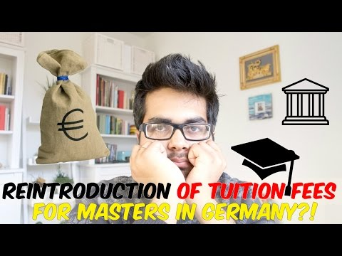 Reintroduction of tuition fees for Masters in Germany